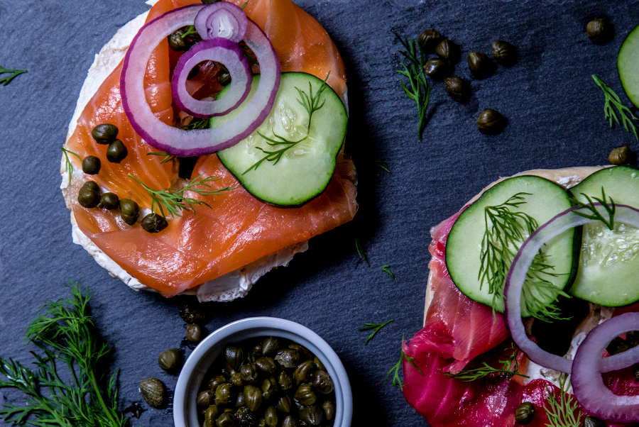 Fresh Gravlax and Bagels