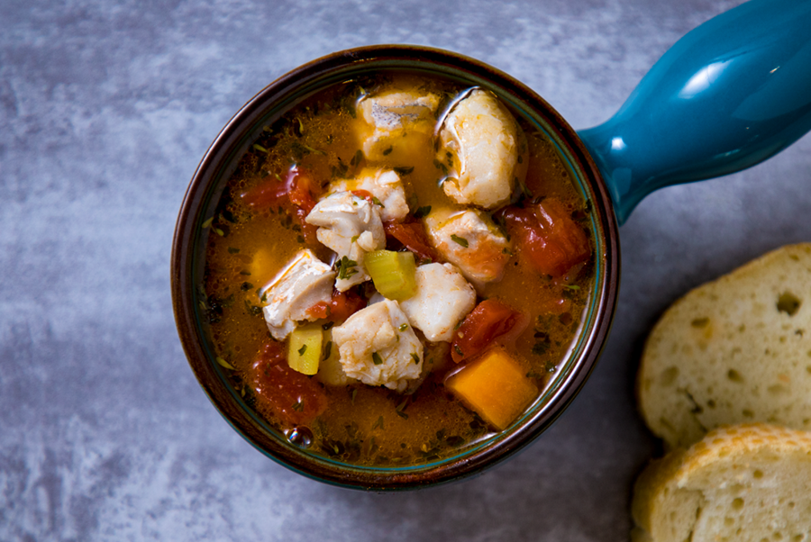 Manhattan-Style Fish Chowder
