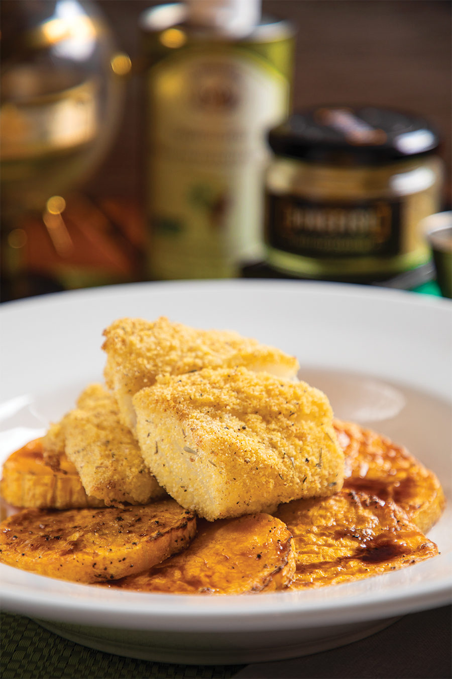 Crusted Cod with Roasted Butternut Squash